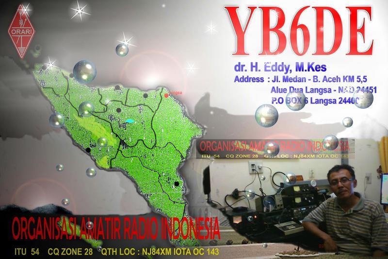 QSL image for YB6DE