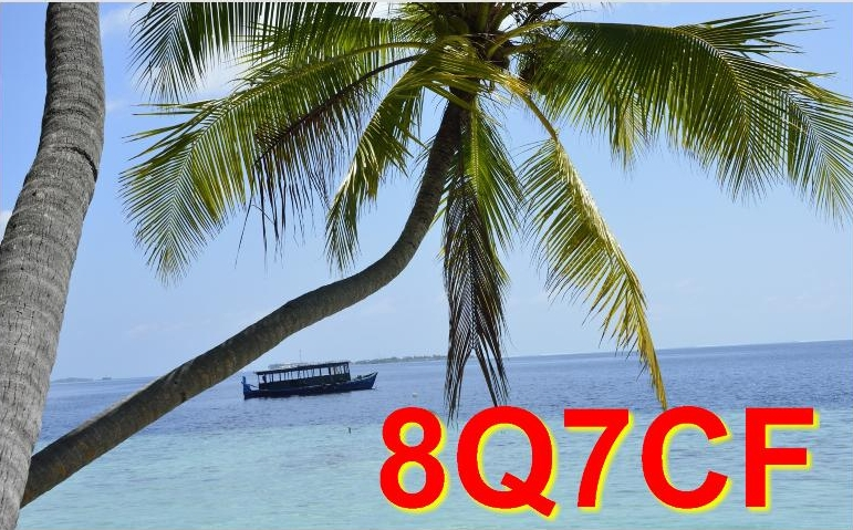 QSL image for 8Q7CF