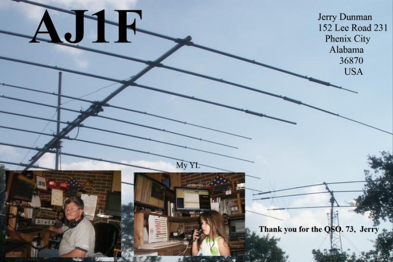 QSL image for AJ1F