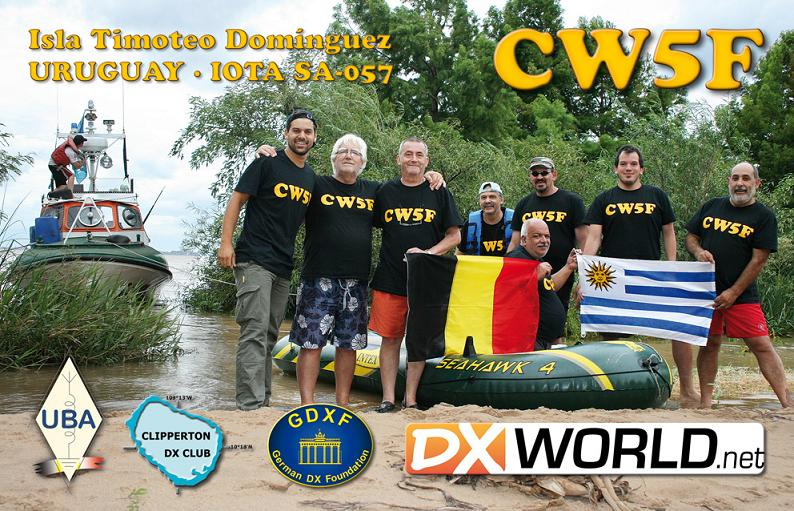 QSL image for CW5F