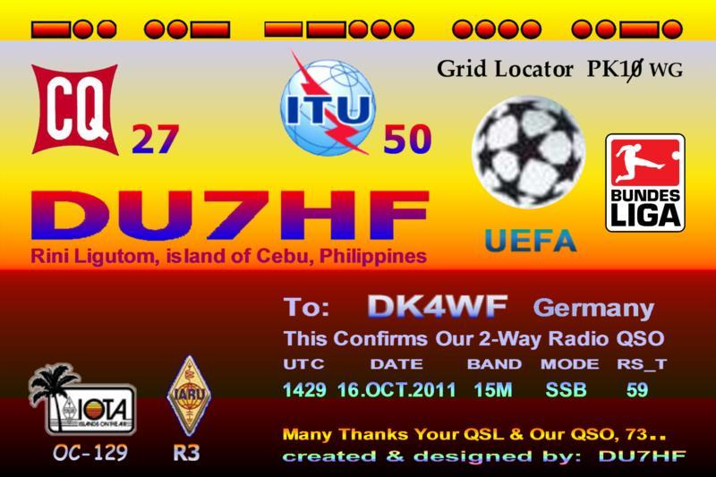QSL image for DU7HF