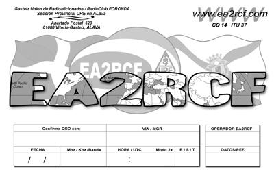 QSL image for EA2RCF