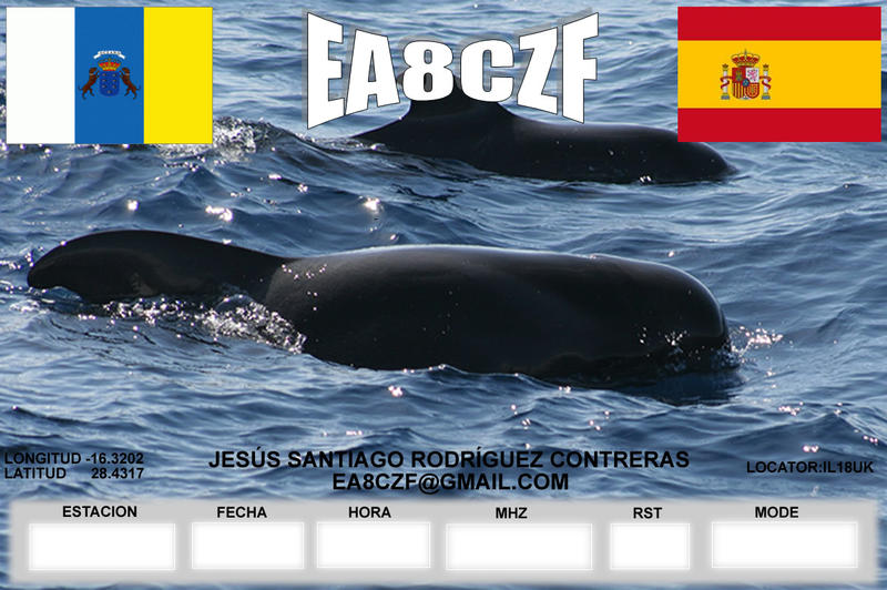 QSL image for EA8CZF
