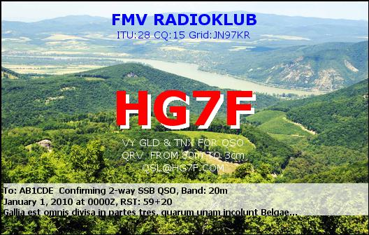 QSL image for HG7F