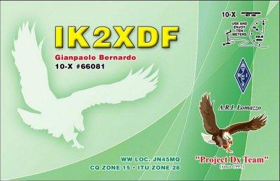 QSL image for IK2XDF
