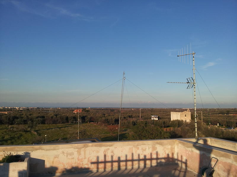 my 80 meter dipole  on North direction