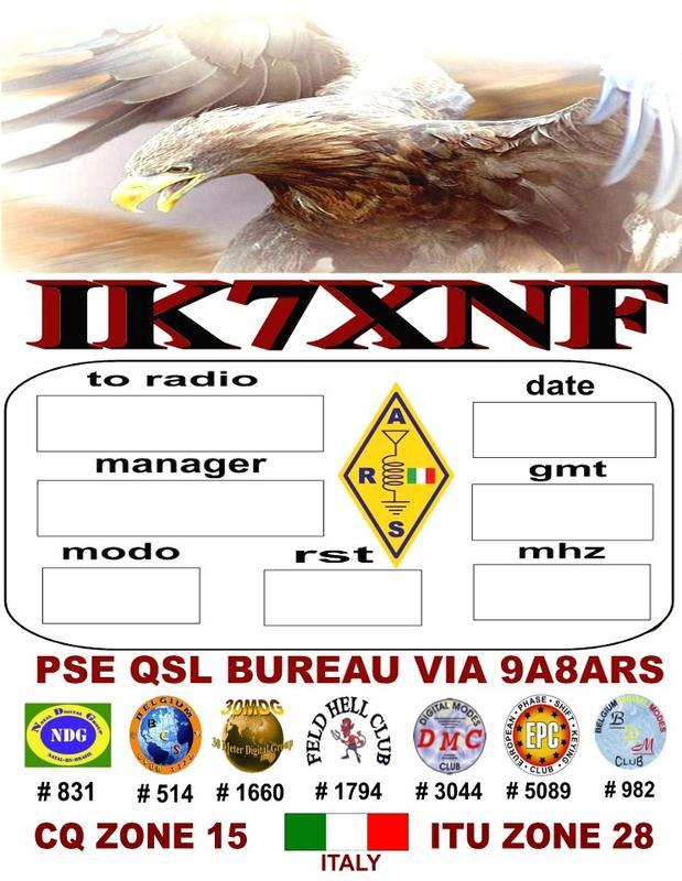 QSL image for IK7XNF