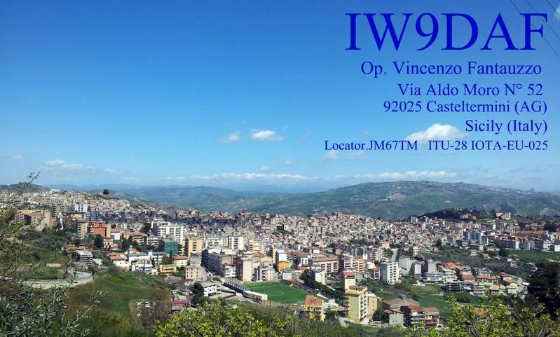 QSL image for IW9DAF