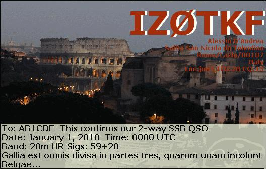 QSL image for IZ0TKF