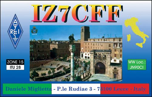 QSL image for IZ7CFF