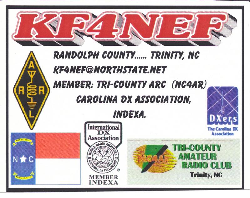 QSL image for KF4NEF