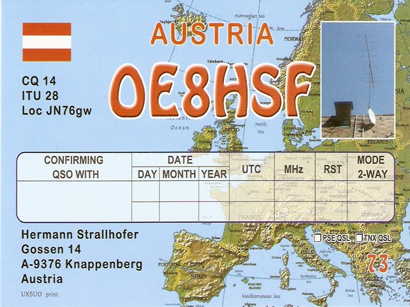 QSL image for OE8HSF