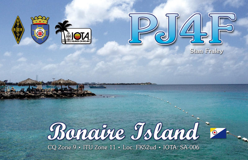 QSL image for PJ4F