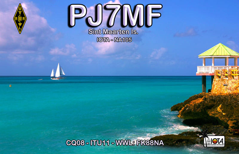 QSL image for PJ7MF