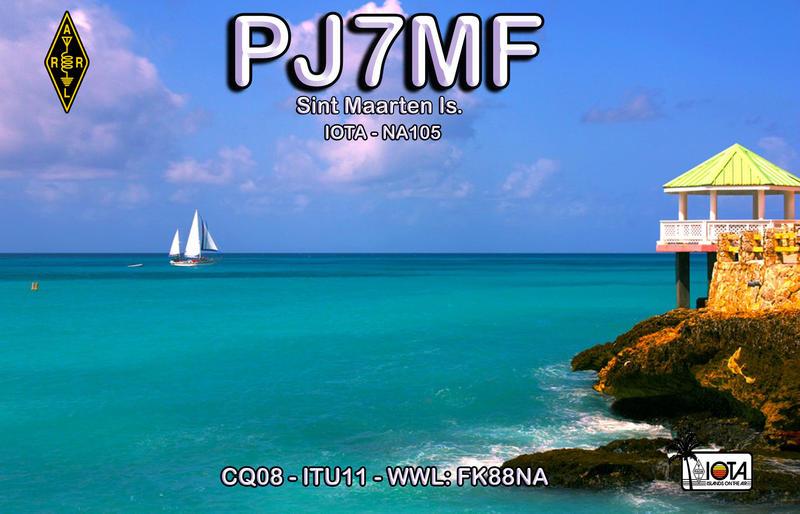 QSL image for PJ7MF