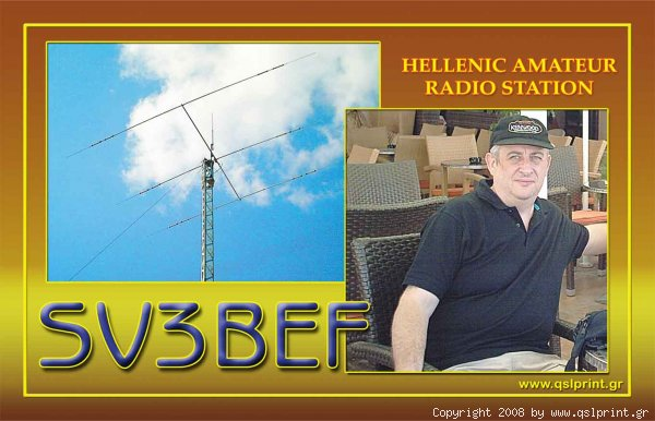 QSL image for SV3BEF