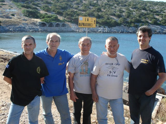 SX5F Radioamateur team on Farmakonisi Islet