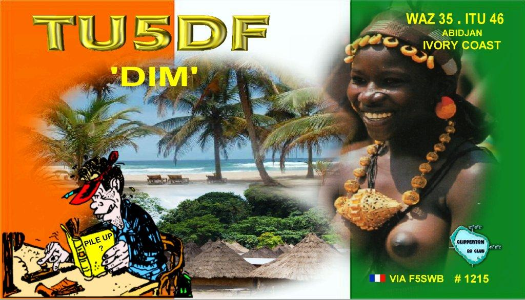 QSL image for TU5DF