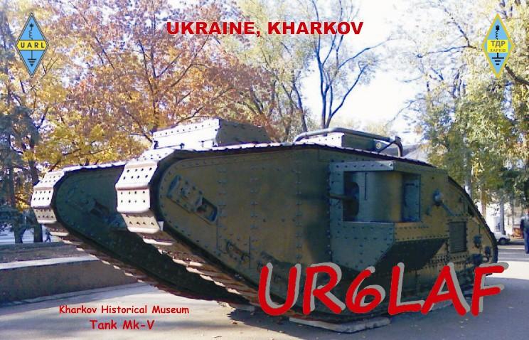 QSL image for UR6LAF