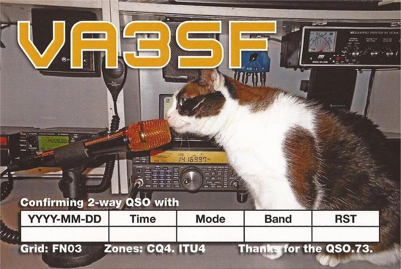 QSL image for VA3SF