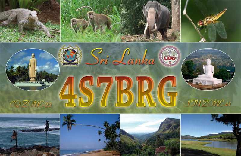 QSL image for 4S7BRG