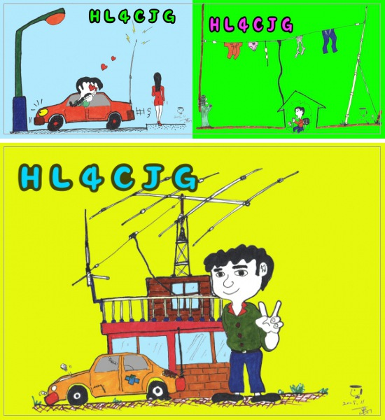 QSL image for HL4CJG