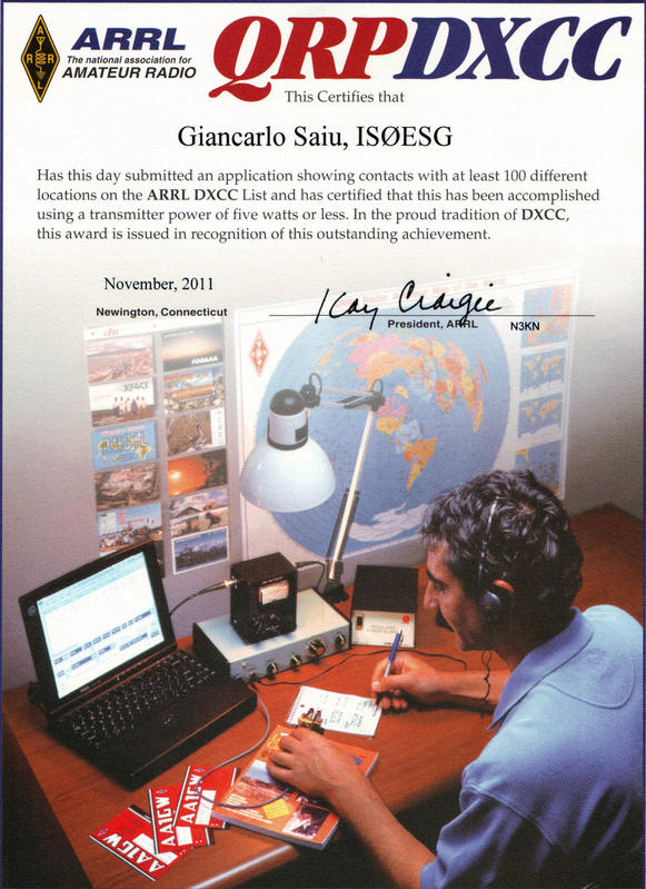 QSL image for IS0ESG