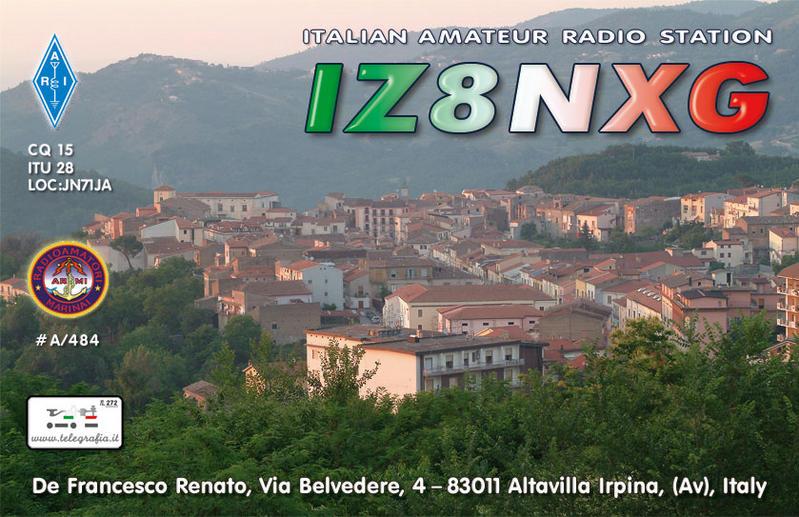 QSL image for IZ8NXG