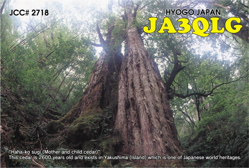 QSL image for JA3QLG