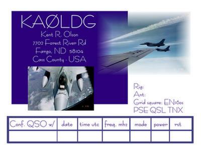 QSL image for KA0LDG