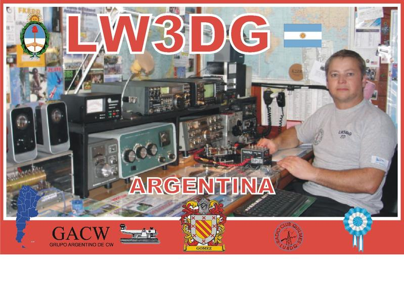 QSL image for LW3DG