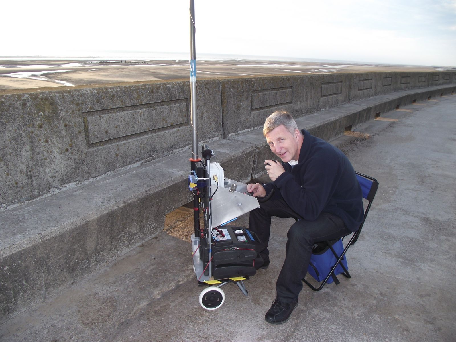 Me and my trolley at the beach
