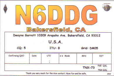 QSL Card 2013