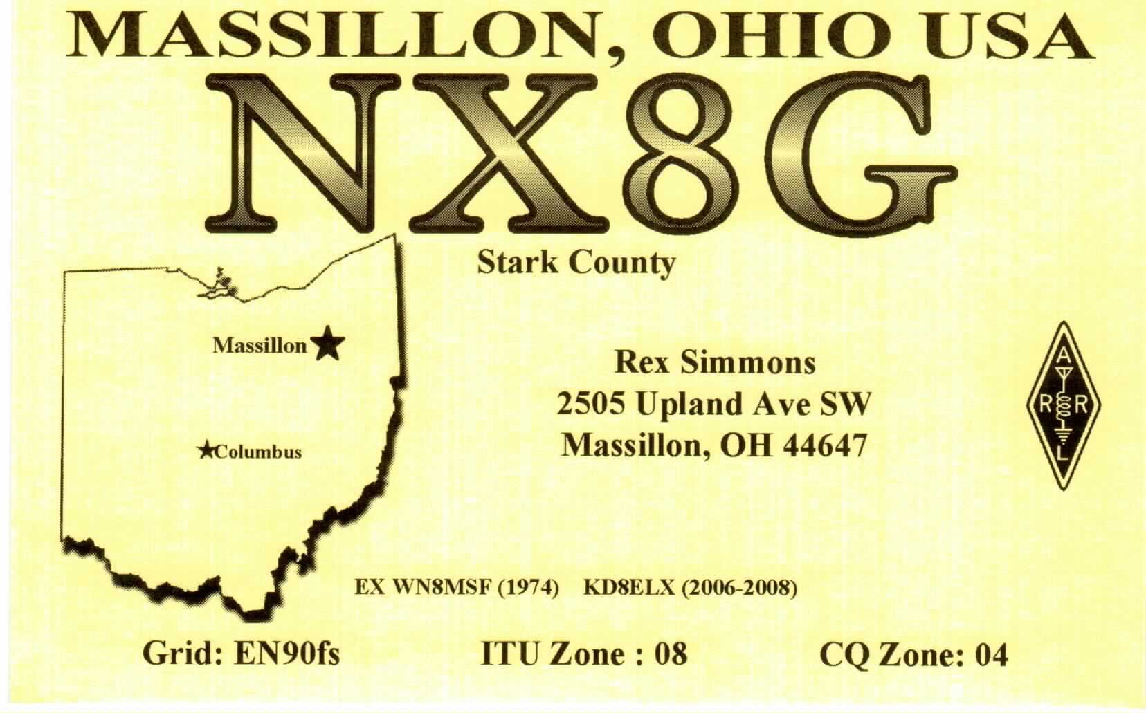QSL image for NX8G