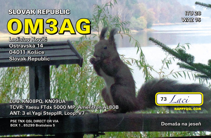 QSL image for OM3AG