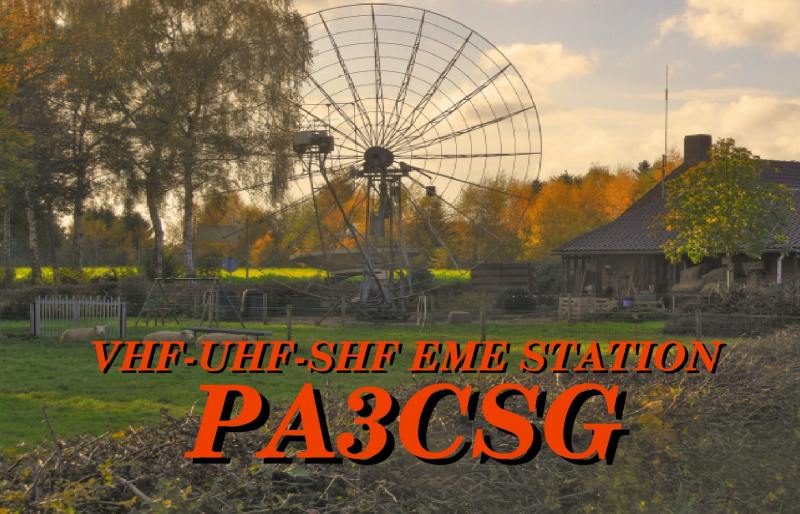 QSL image for PA3CSG