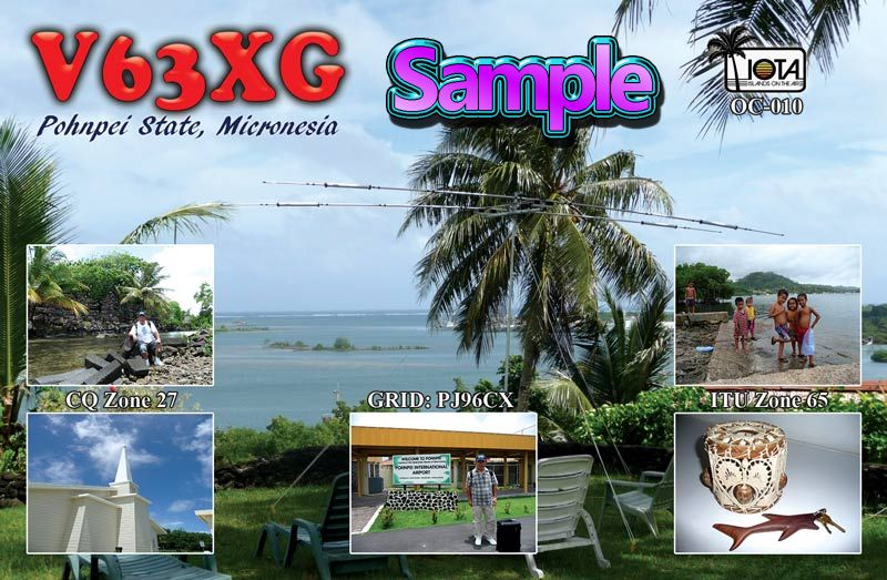 QSL image for V63XG