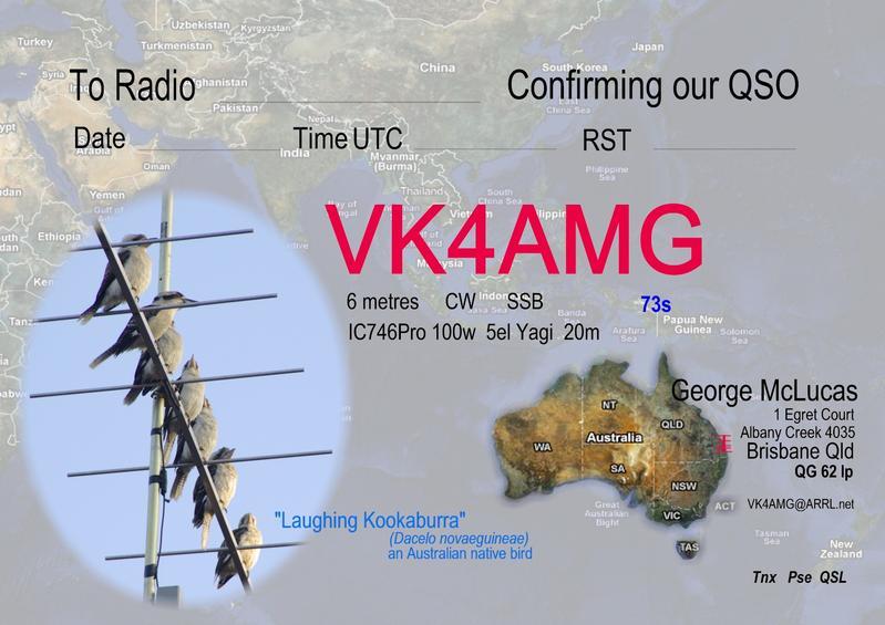 QSL image for VK4AMG