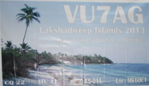 QSL image for VU7AG