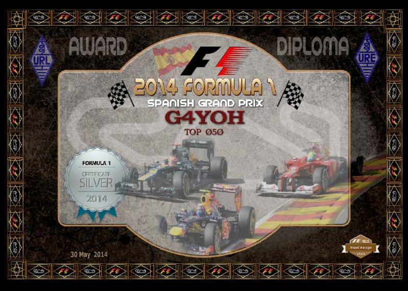 The 2014 Spanish GP Silver award