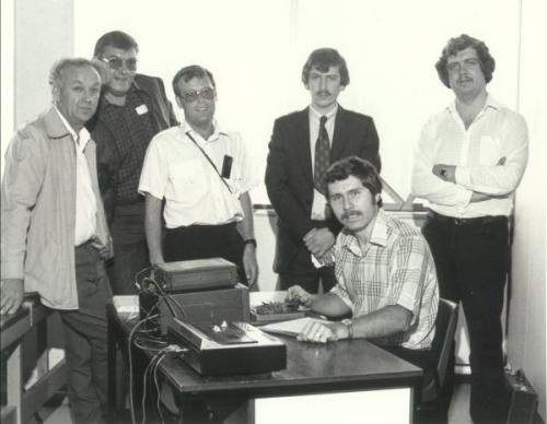 GM3ZDH-Morse-testing-at-the-Scottish-Amateur-Radio-Convention-Cardonald-Glasgow-in-1983