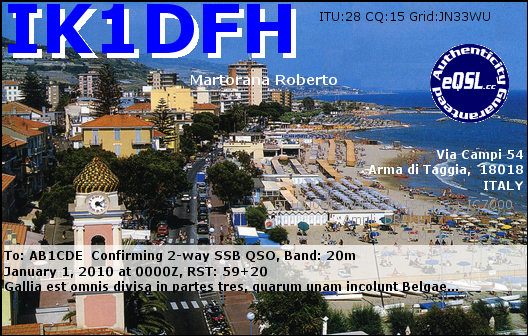 QSL image for IK1DFH
