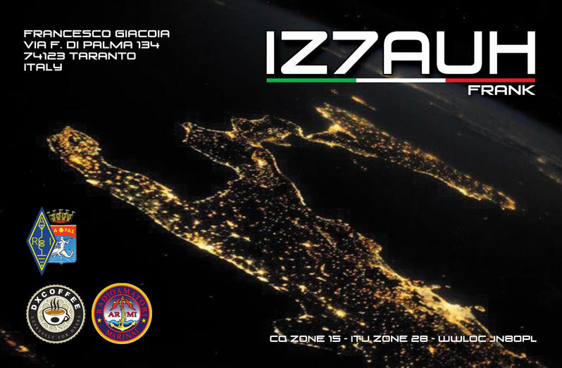 QSL image for IZ7AUH