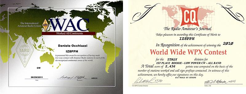 Diplomi di IZ8PPH
