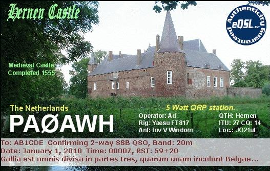 QSL image for PA0AWH