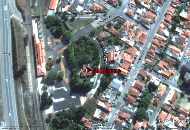 QTH - Home PY2HH - Google Image.