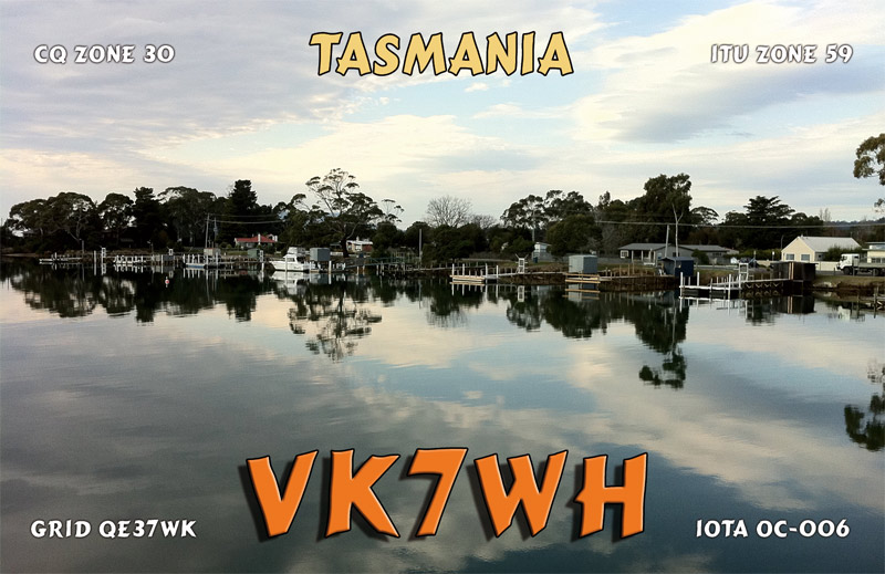 QSL image for VK7WH