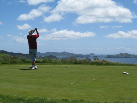 Golfing at Kauri Cliffs, Bay of Islands