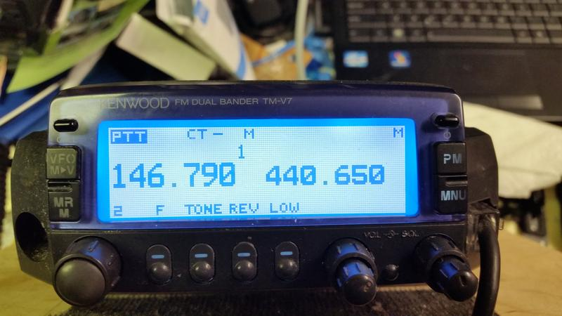 Kenwood TM-V7 Display Modification