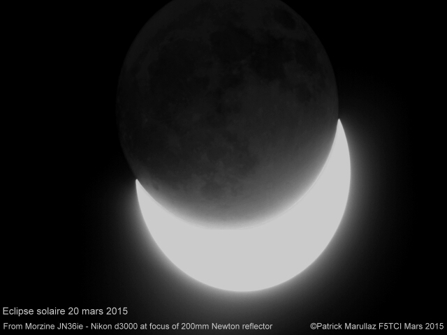 Eclipse on March 20th, 2015 .. © Patrick Marullaz F5TCI